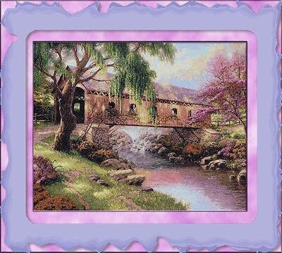 OLD COVERED BRIDGE~DELICA BEAD PEYOTE PDF PATTERN ONLY