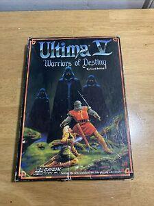 Ultima-V-5-Warriors-of-Destiny-Herkunft-Apple-II-Computer-selten-Vintage-RPG-Spiel