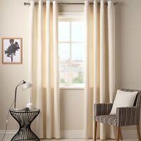 John Lewis Cotton Rib Eyelet Lined Curtains Cream 150 X 137 Cm