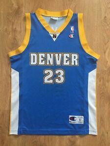 Vtg Marcus Camby  23 Denver Nuggets shirt jersey CHAMPION NBA adult ... b4375e71c