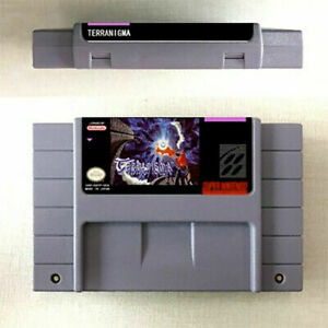 New Terranigma Game Card Console For Nintendo SNES US Version 16 Bit English