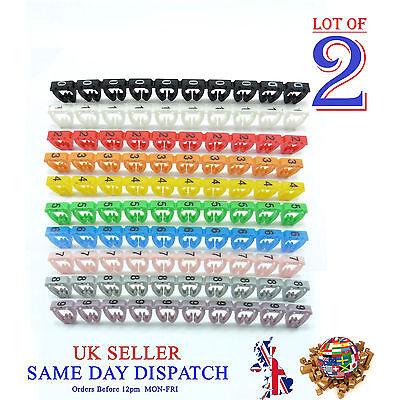200x Colorful Cable Markers C-type Ftp Utp Lan Marker Number Label Tag 7mm Cat6 Ein Kunststoffkoffer Ist FüR Die Sichere Lagerung Kompartimentiert