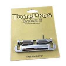 TonePros T1ZS-C Locking Chrome Stop Tailpiece for USA Gibson® Guitar TP-0403-010