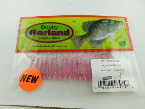 Bobby Garland Hyper Grub New Plum American Bait NIP of 18