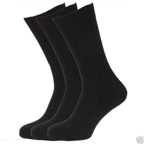 New Mens Black Socks  Diabetic Non Elastic Soft Top Size 6-11