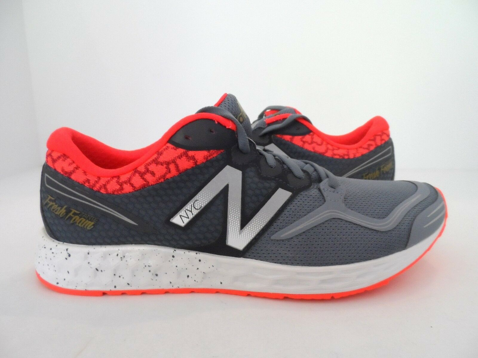 New Balance Men's M1980V1 Fresh Foam Zante NYC Running shoes Grey Red Size 9.5