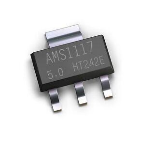 20PCS NEW AMS1117-5.0 AMS1117 LM1117 5V 1A SOT-223 Voltage Regulator IC