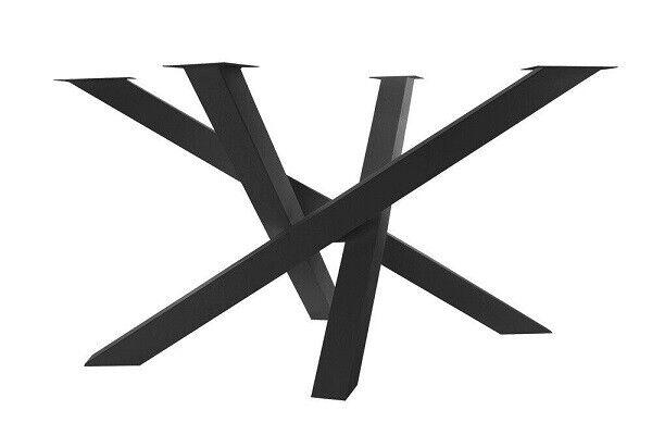 1 großes Kreuzgestell in Schwarz - NUR für unsere Baumstamm Tischplatten