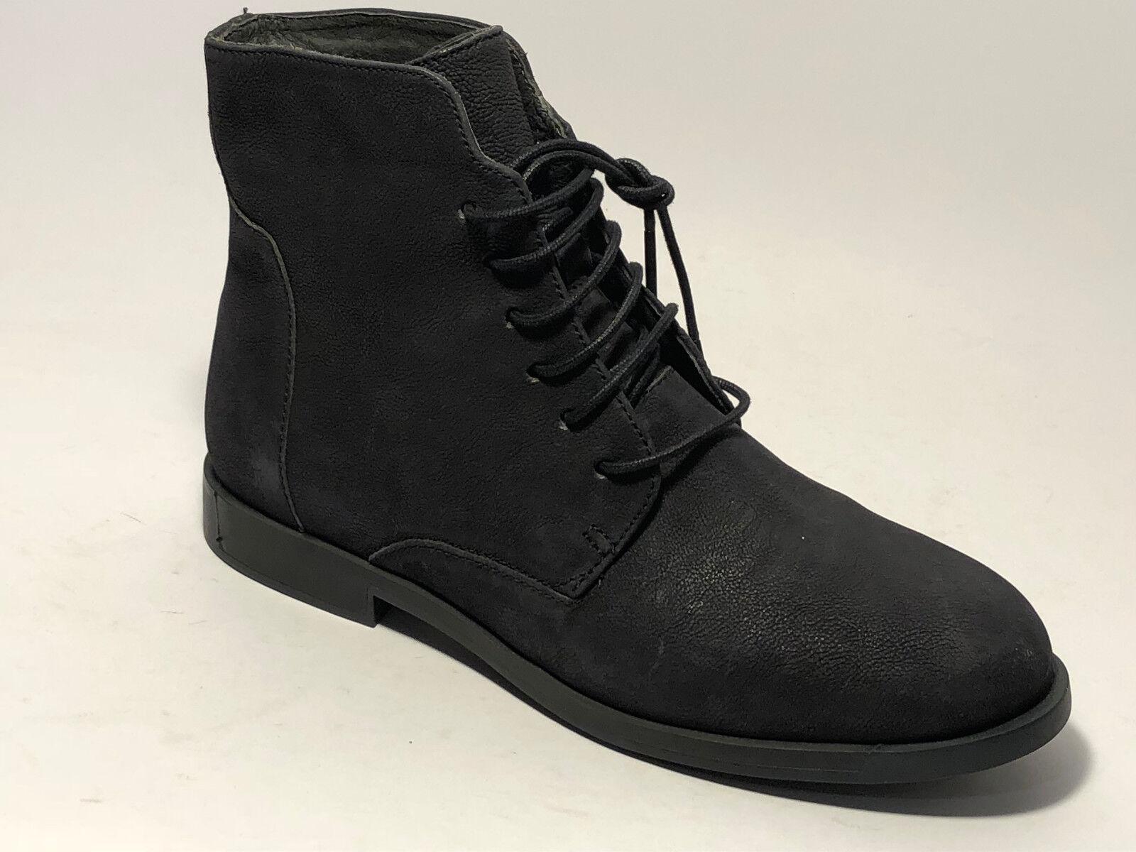 Camper Schuhe Stiefel Nubuk Leder Schür Stiefel Schuhe Größe 37 (UK 4 ) Schwarz Stiefel 3c8002