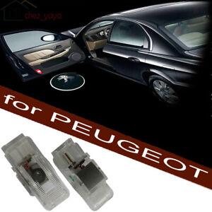 eclairage-d-039-entree-projecteurs-Led-Laser-Logo-pour-PEUGEOT-206-307-408-508-RCZ
