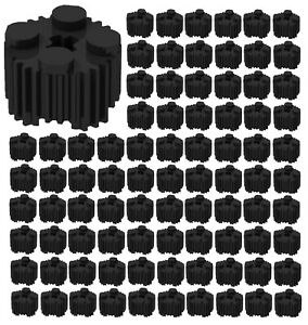 Lego 100 New White Bricks Round 2 x 2 with Flutes Grille and Axle Hole
