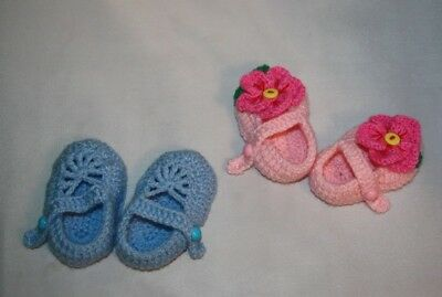 Botines Hechos a mano de ganchillo bebé/zapatos/Baby Shower/Regalo
