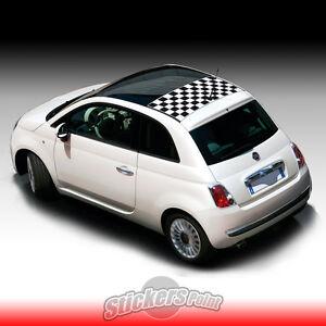 Dettagli Su Adesivo Fiat 500 Tetto A Scacchiera Nuova 500 Tetto Apribile Sticker Scacchi