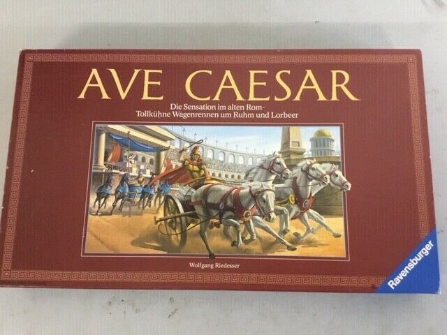 AVE CAESAR stunning classic chariot racing game by Ravensburger RARE