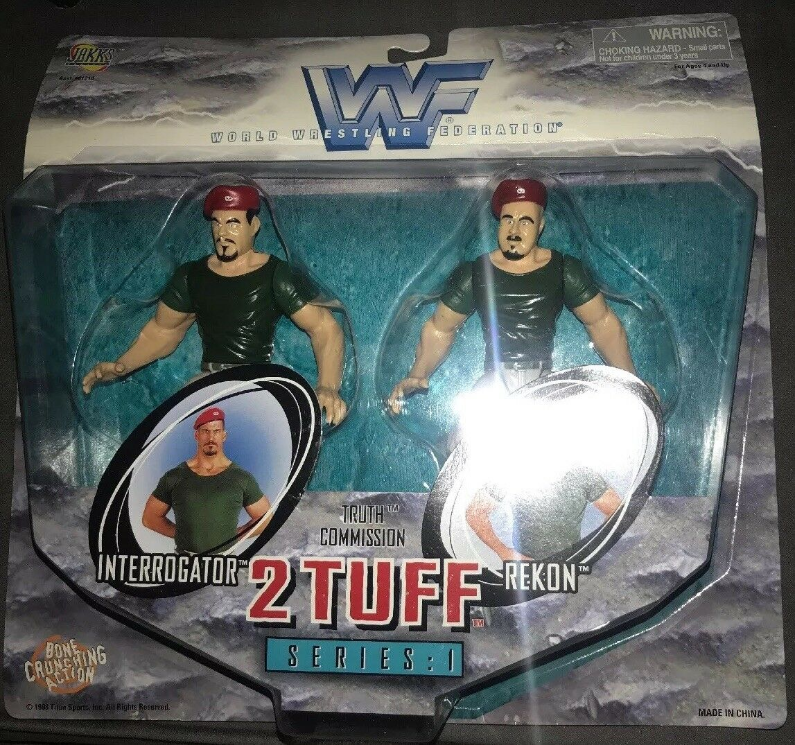 WWF 2 Tuff Series 1 The Truth Commission Rekon & Interrogator NIP WWE WCW NWO