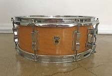 "Ludwig Transition Badge Jazz Festival 14"" x 5"" Mahogany Vintage Snare Drum"