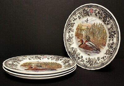 Queens Salad Plates Quintessential Game Collection Set of 4 Mallard