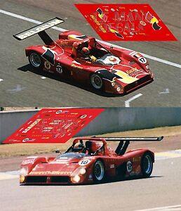 2019 Nouveau Style Calcas Ferrari 333sp Le Mans 1996 1:32 1:43 1:24 1:18 Slot Decals Frissons Et Douleurs