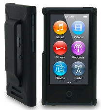 BLACK HARD SHELL CASE COVER BELT CLIP HOLSTER FOR APPLE iPOD NANO 7 7th/8th GEN