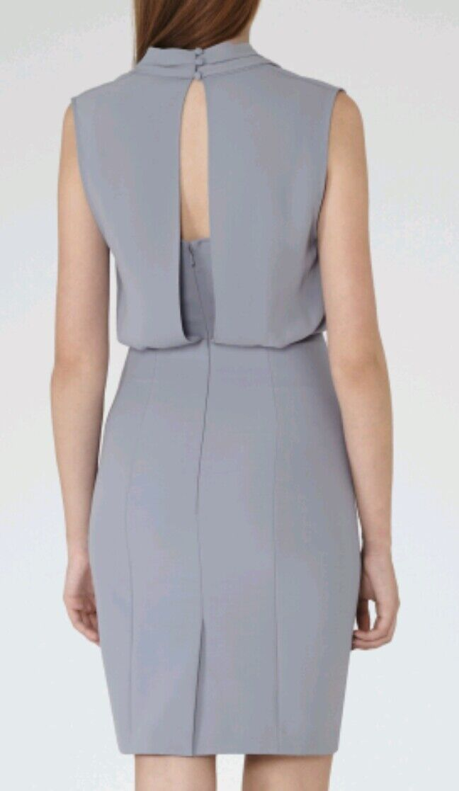 Designer REISS Portland shift shift shift dress size 6 --BRAND NEW-- knee length bluee 5463d6