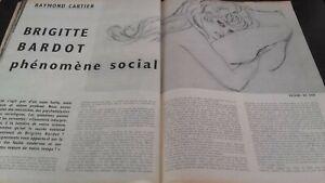 Rivista Brigitte Bardot Parigi Match N° 506 Dicembre 1958 Be