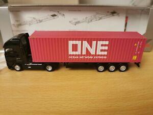 W1-Herpa-932257-LKW-H0-1-87-Volvo-GL-XL-Container-Sattelzug-ONE-OVP