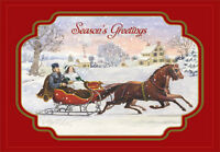 Winter Sleigh Ride Box Of 18 Vintage Christmas Cards By Designer Greetings