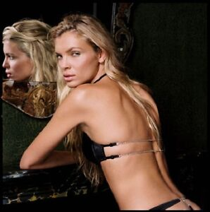 La/'licia Black Backless Diamond Halter Neck For Low Back Dresses Bra 32D BNWT