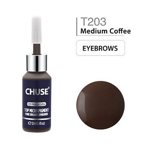 CHUSE-Permanent-Make-up-Microblading-Pigmente-Augenbrauen-Tattoo-Ink-12ml-T203