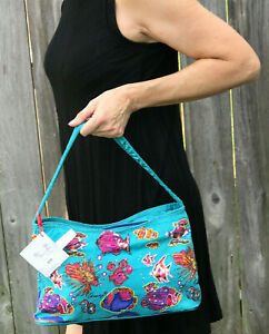 Anne Ormsby Go Fish Zip Teal Hand Bag