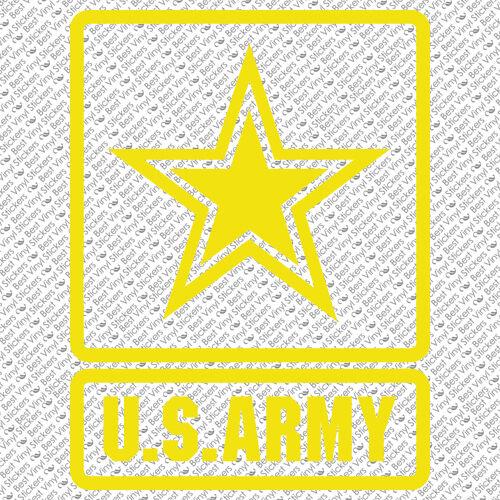 USA-1 US ARMY EMBLEM LOGO MILITARY REAL MAN STAR GUN VINYL DECAL STICKER