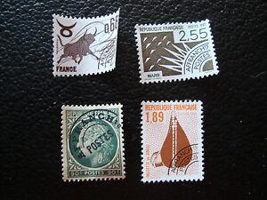 FRANCIA-4-francobolli-preobliterati-senza-gomma-A23-stamp-french