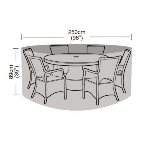 Garland 6-8 Seater Round Garden Furniture Set Cover W1200
