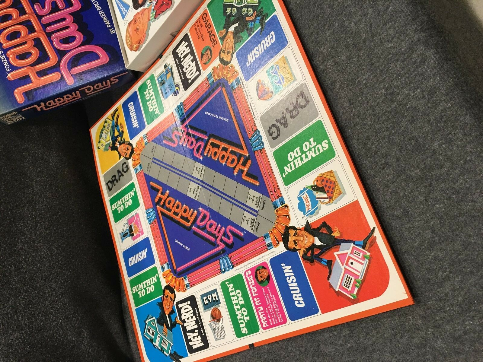 Happy Days Fonzie's Real Cool Game Parker Brothers 1976