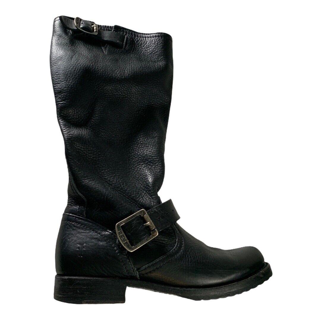 Frye Veronica Short Leather Boot Women's color Black size US 5.5