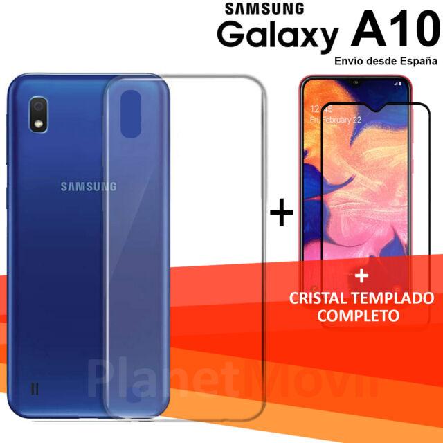"""SAMSUNG  GALAXY A10 6,2"""" protector cristal completo 3d vidrio templado + funda"""
