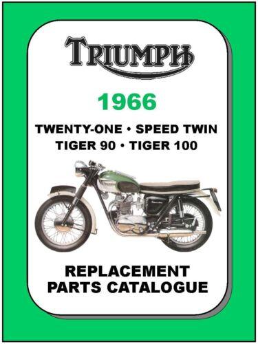 TRIUMPH Parts Manual 5TA 3TA T100 T100R T100C T90 1966 Replacement Spares List