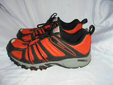 REBOOK MEN'S ORANGE/BLACK TEXTILE LACE UP CLASSIC TRAINERS SIZE UK 6.5 EU 40 VGC
