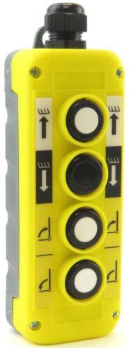 YC-4B-UDRL Hoist Crane Pendant Control Station Switch 4-Button Up-Down-Right-L