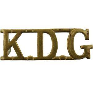 Original 1st Kings Dragoon Guards Regiment KDG King's Shoulder Title Badge  JY16   eBay