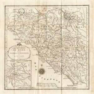 Antique Map Rome Italy Roman Empire Klockhoff 1809 Ebay