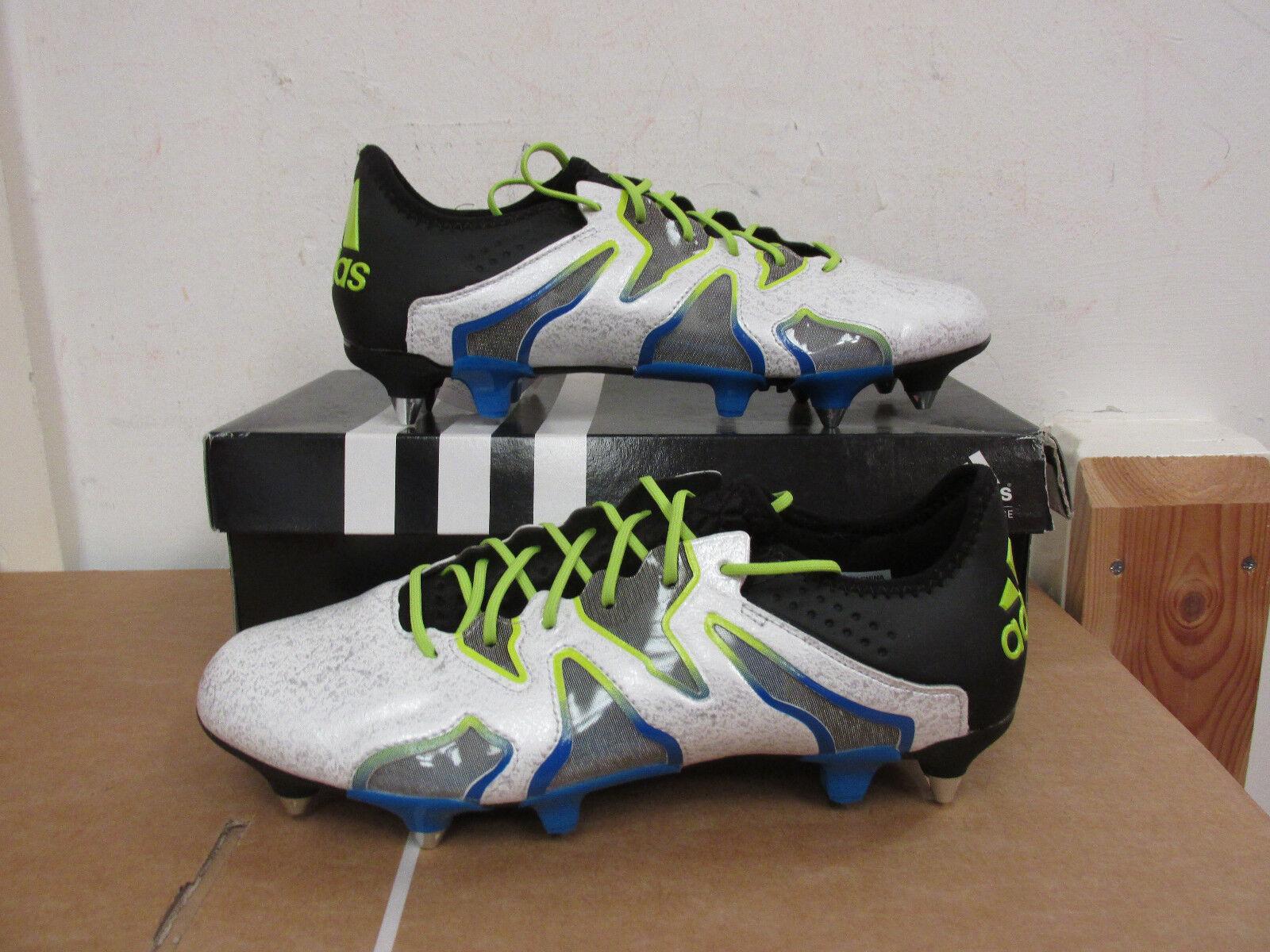 Adidas X 15+ SL SG (promo) AQ2087 Para hombre botas De Fútbol Soccer Cleats aclaramiento