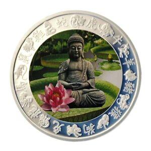 Chinesische-Tierkreiszeichen-Der-Buddha-Kupfer-versilbert