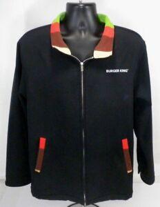 Burger-King-Full-Zip-Manager-Jacket-Employee-Fleece-Lined-Coat-Uniform-Small-S