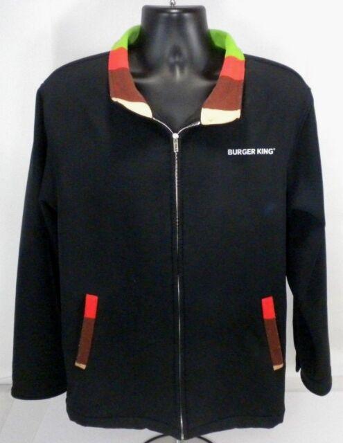 Burger King Full Zip Manager Jacket Employee Fleece Lined Coat Uniform Small S