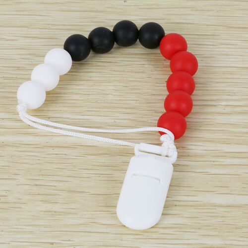 Teething Chew Necklace and Pacifier Clip Dummy Infant Newborn Baby Jewelry Shan
