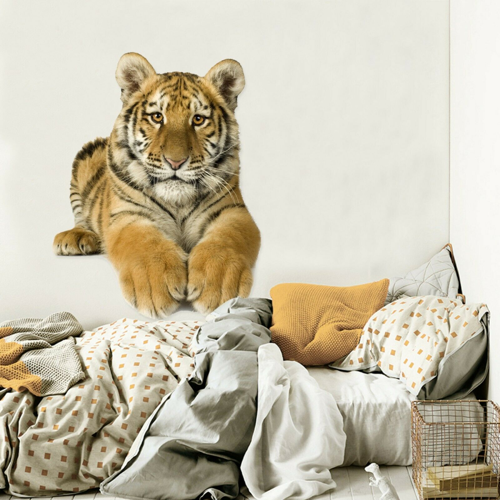 3D Tiger N30 Animal Wallpaper Mural Poster Wall Stickers Decal Amy