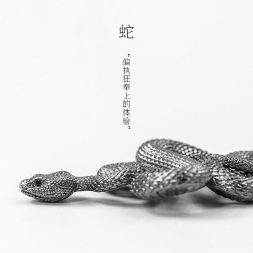 Handmade 925 Silver Snake Pendant Necklace Jewelry DIY Accessories