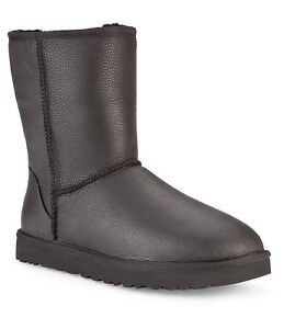 ugg australia classic short black leather 1003944 men s boot sz 18 rh ebay com