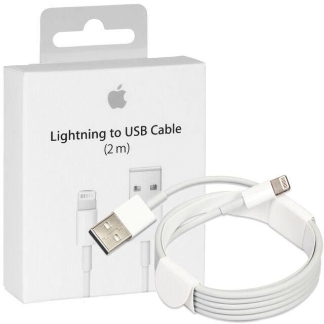 Cavo USB ORIGINALE Apple 2 METRI Lightning Per iPhone 5 5S 5C 6S plus iPad iPod
